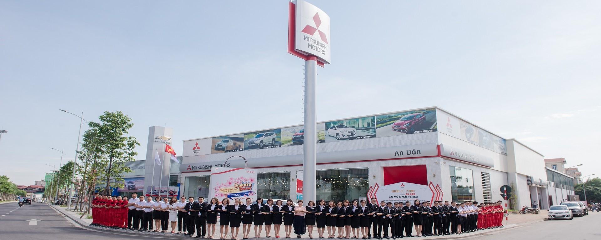Giới thiệu đại lý Mitsubishi An Dân Long Biên Hà Nội